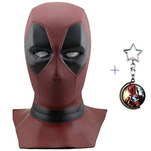Yacn deadpool maschera uomini per il vestito di fantasia, film DP Costume Cosplay deadpool Replica maschera testa, Halloween maschera testa piena (deadpool)