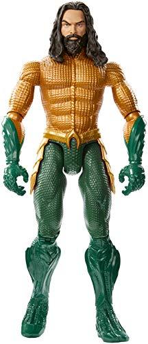 Mattel Aquaman Personaggio Articolato dal Film, con 11 Punti di Articolazione, Giocattolo per Bambini 3 + Anni, 30 cm, FXF91
