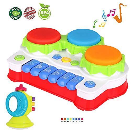 TINOTEEN Giocattoli per Bambino, Gioco Giocattolo Musicale per Pianoforte e Tamburo