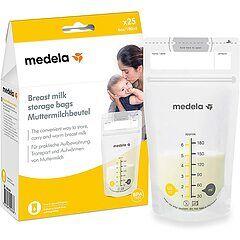 medela sacche per la conservazione del latte materno 25 pz
