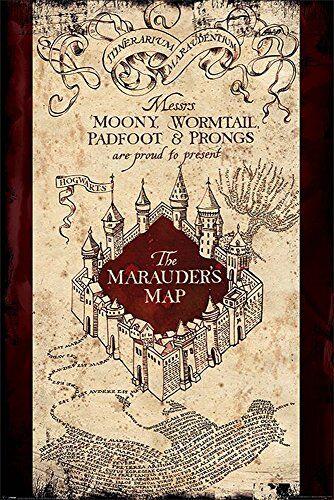 empireposter 743527Harry Potter-The Marauders Map-Film Fantasy Famiglia Stampa Cinema, Carta, Multicolore, 91,5x 61x 0,14cm