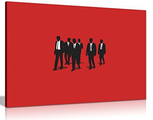 One Blank Wall Stupenda Decorazione da Parete in Tela Stampata, Tema Film Reservoir Dogs, con Cornice, Arte Moderna pronta da Appendere, Circa 76 x 51 cm