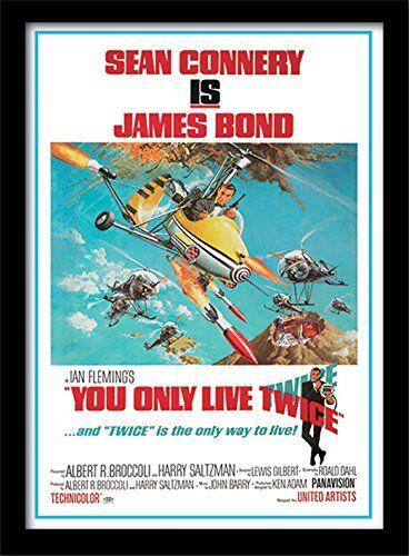 Pyramid International FP10247P - Poster incorniciato della Locandina del Film di James Bond You Only Live Twice