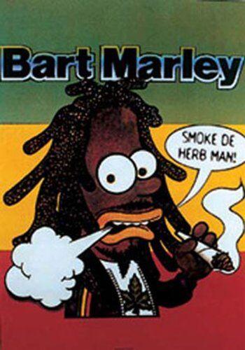 empireposter Empire 11978 Simpsons - Bart Marley - Film Film Cinema Stampa - 61 x 91,5 cm