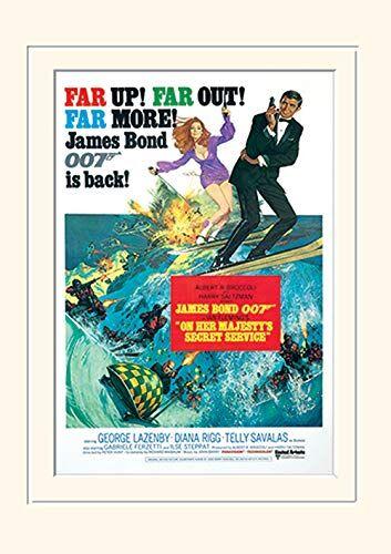 Pyramid International James Bond (al Servizio di Sua Maestà Film Stampa)-Montato Memorabilia 30x 40cm, Carta, Multicolore, 30x 40x 1.3cm