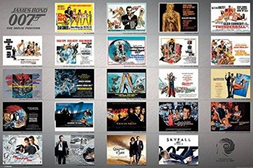 1art1® - Poster James Bond 007 contro Dr. No in Skyfall, 23 film, 91 x 61 cm Senza cornice