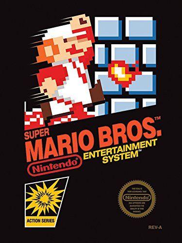Nintendo 60 x 80 cm Super Mario Bros Canvas Print Disegno NES