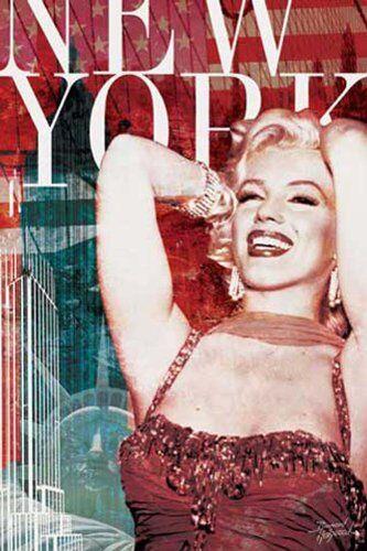 empireposter Empire 376.343 Marilyn Monroe - New York Film Movie Poster Poster - 61 x 91.5 cm