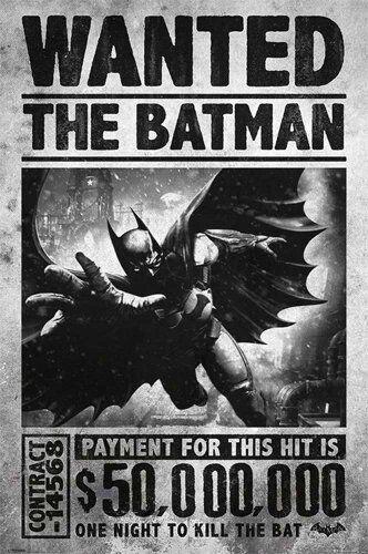 empireposter Batman - Arkham Origins - Wanted Kino Film - Poster- Größe 61x91,5 cm