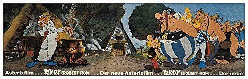 Artopweb Asterix-Film Pannello Decorativo, Legno MDF, Multicolore, 100 x 30 Cm