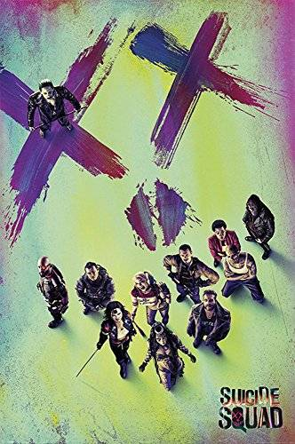 empireposter Suicide Squad - Face - Retro Druck Plakat Film Poster - Größe 61x91,5 cm