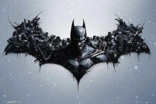 empireposter Batman - Arkham Origins - Arkham Bats - Kino Film - Poster- Größe 91,5x61 cm