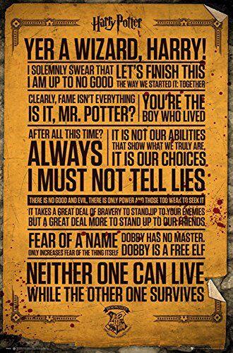 empireposter 747303Harry Potter-Quotes-Film Cinema Stampa Poster-Dimensioni 61x 91,5cm, Carta, Multicolore, 91,5x 61x 0,14cm