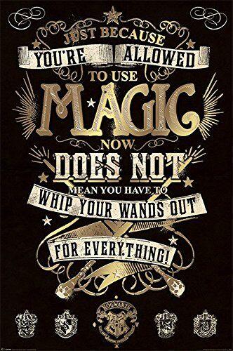 empireposter Harry Potter - Magic - Film Fantasy Familie Kino Poster Druck - Grösse 61x91,5 cm