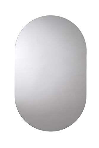 Croydex Harrop-Specchio rettangolare con bordi arrotondati, 65x 40cm)
