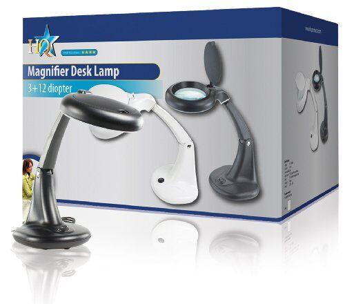 HQ MAG-LAMP3B Lampada con Lente, Nero