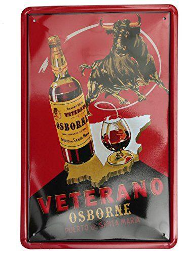 SuperStudio Lo + deModa hcn389-87-Quadro di Metallo Stampa Vintage, veterano, 20x 30cm