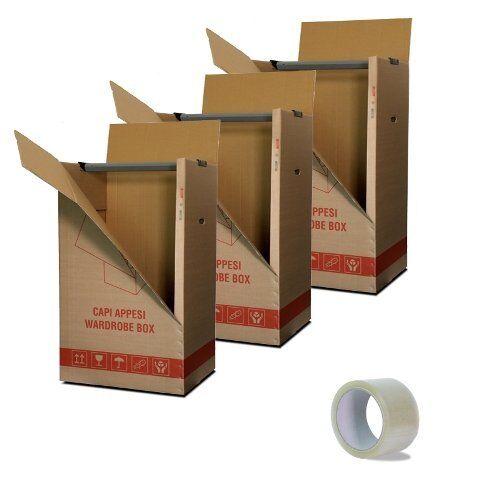 imballaggi 2000 imballaggi2000 kit 3 scatole cartone porta