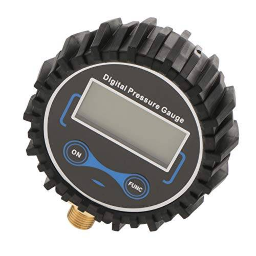 Homyl Manometro Digitale,200 PSI Manometro Pressione Pneumatici Digitale LCD di Auto, Moto