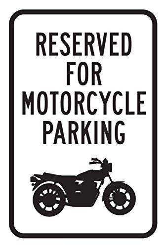 qidushop riservato Moto Auto Solo parcheggio No Retro Metal Wall Decor Art Shop Man Cave Bar Garage Aluminum 30x 45cm Segno