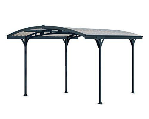 ONDULINE ITALIA Carport LUCCA tettoia per auto e moto. Copertura in policarbonato compatto traslucido e robusta struttura in alluminio. Dimensioni: 4,9 m x 2,8 m