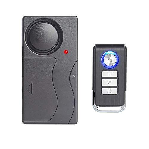 Mengshen Allarme Vibrazione Wireless, Antifurto per Bicicletta/Bici/Moto/Auto/Veicoli/Porta/Finestra, Voce Alta 110db (Telecomando Incluso)