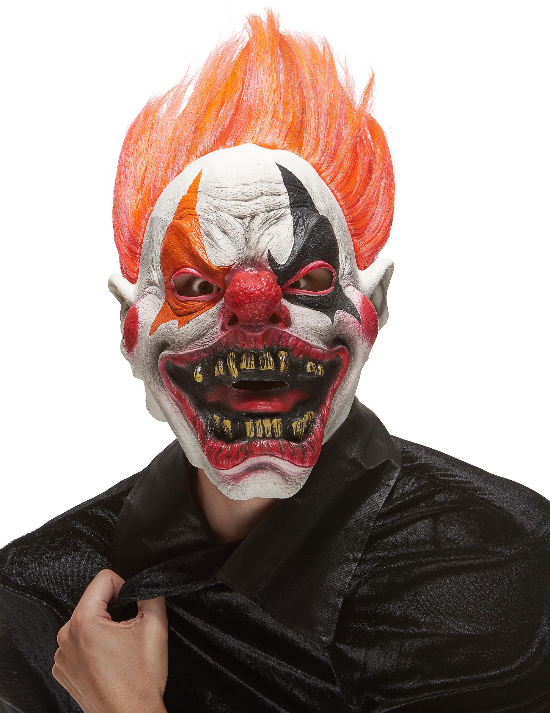 vegaoo maschera integrale da clown infernale