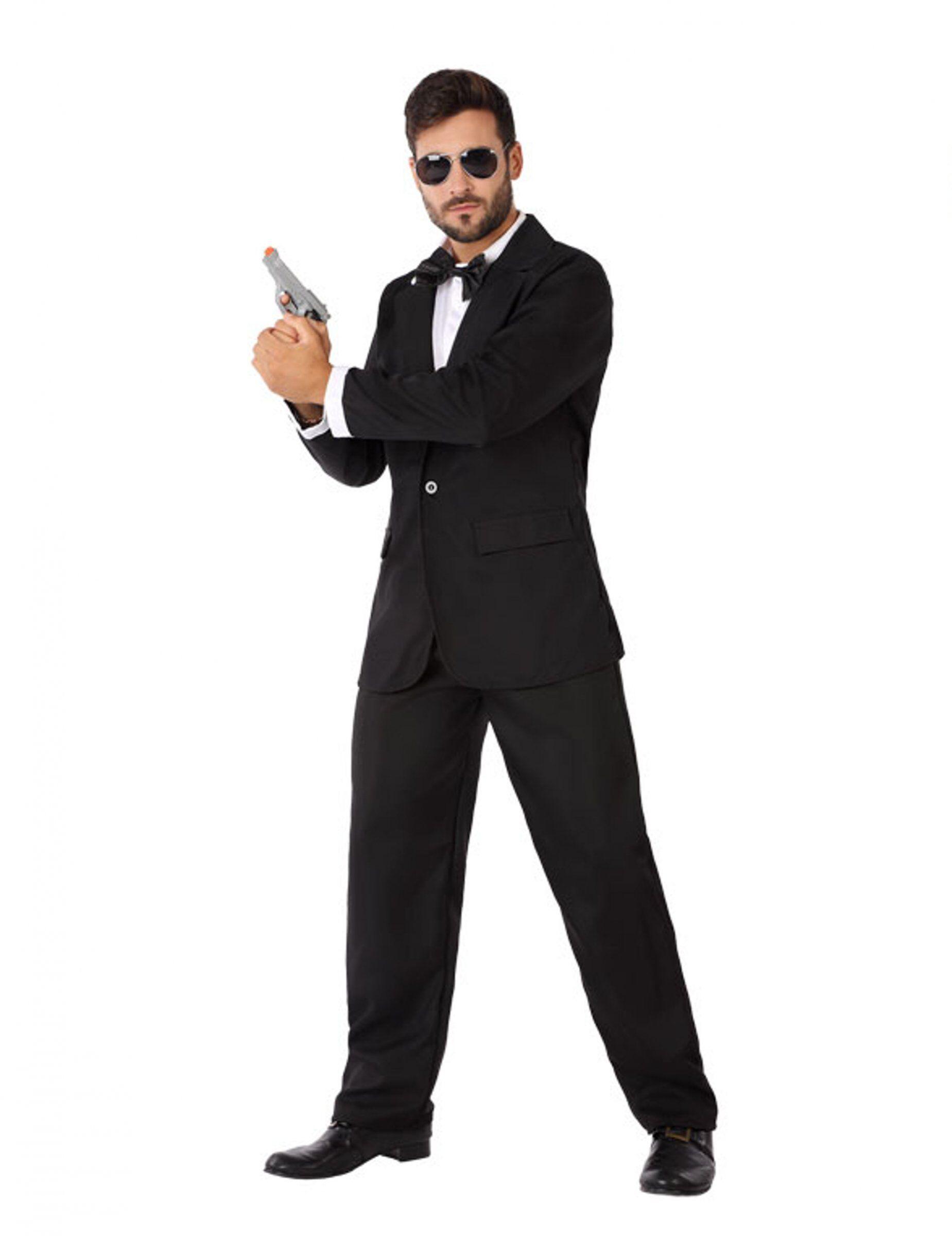 vegaoo costume da agente segreto in smoking uomo - m / l