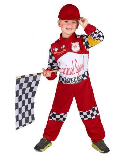 lucida costume pilota di corsa bambini s 4-6 anni (110-120 cm)