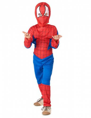 lucida costume supereroe ragno bambino s 4-6 anni (110-120 cm)