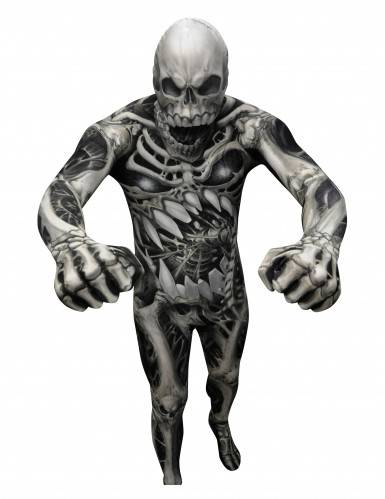 morphsuits costume scheletro di morphsuits adulto xl (190 cm max)