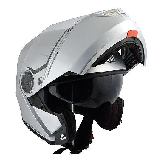 cgm casco moto modulare cgm 504a dubai doppia silver metallizzato