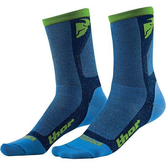 thor calze tecniche thor dual sport cool blue/green