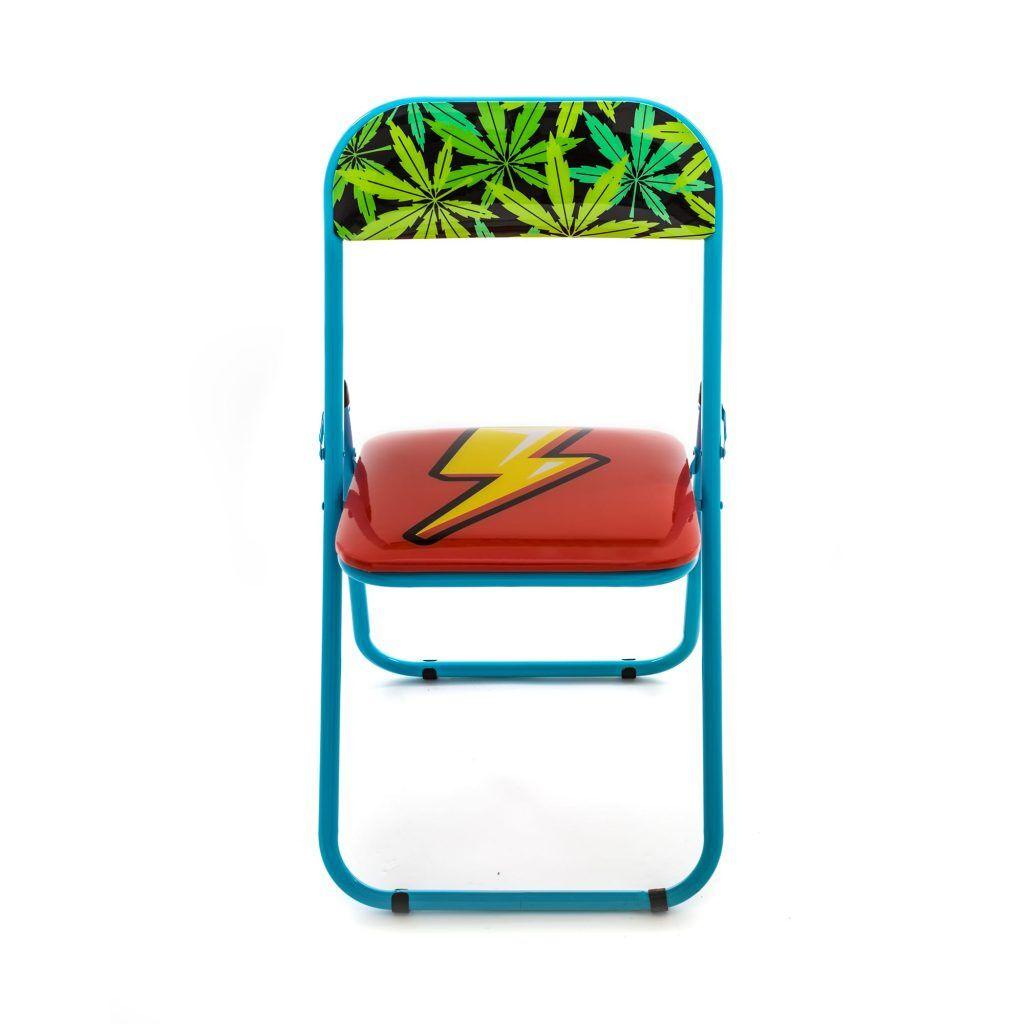 seletti studio job sedia in metallo pieghevole flash