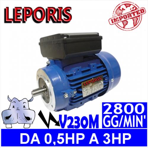 Leporis - Motori elettrici V230M 2 POLI 2800 GG.MIN Forma B14
