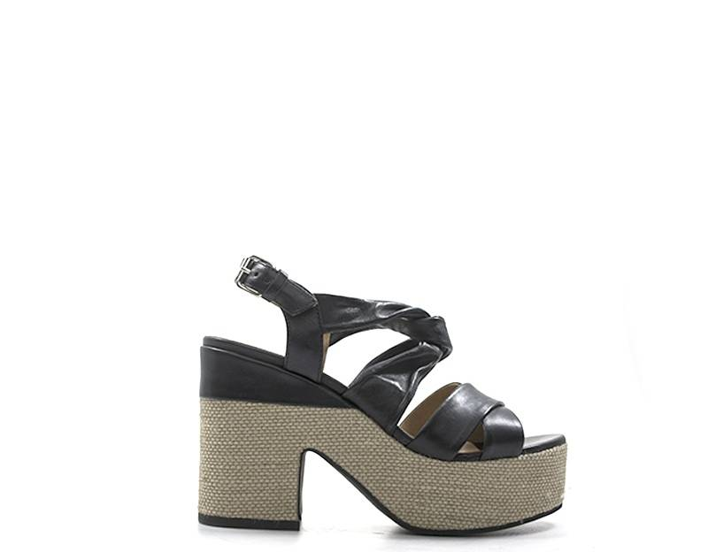 janet sport sandali alti donna nero