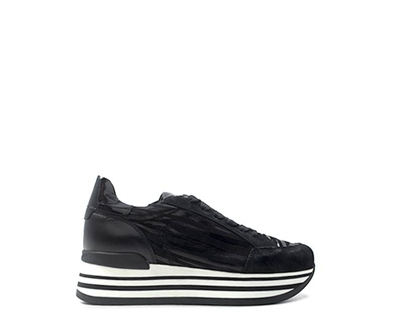 janet sport sneakers trendy donna nero