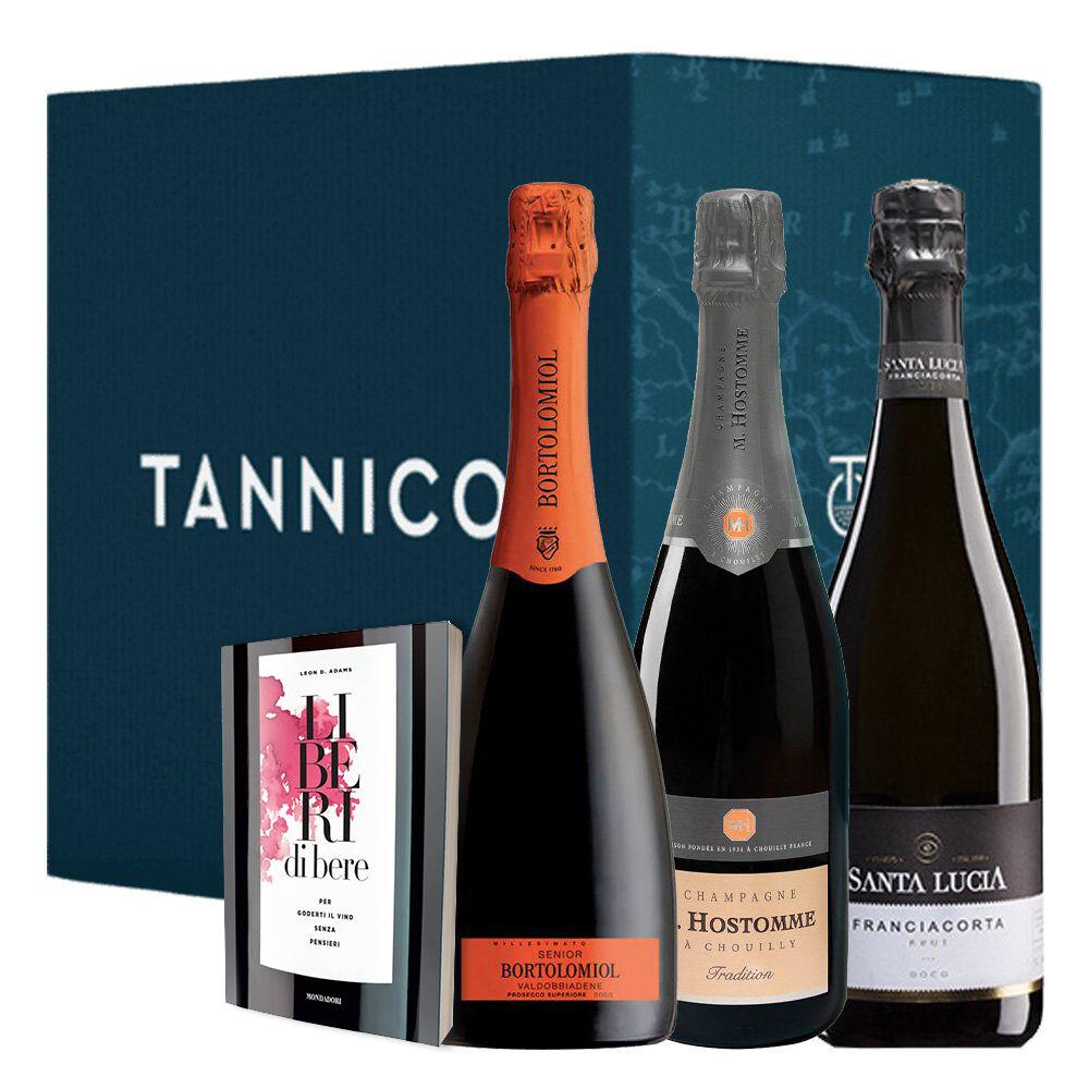 2 2 2 bottiglie   libro: il prosecco  lo champagne e il franciacorta e liberi di bere