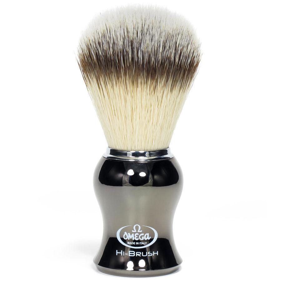 Omega Pennello da Barba in Fibra Sintetica HI BRUSH Canna di Fucile Art. 46276