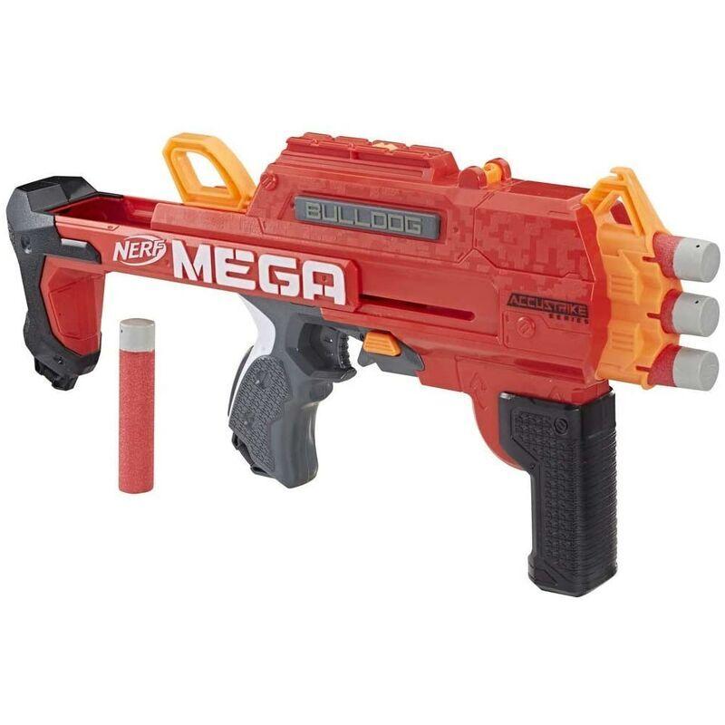 NERF Fucile Giocattolo Bambini Nerf N-Strike Mega Bulldog con 3 Munizioni Accustrike