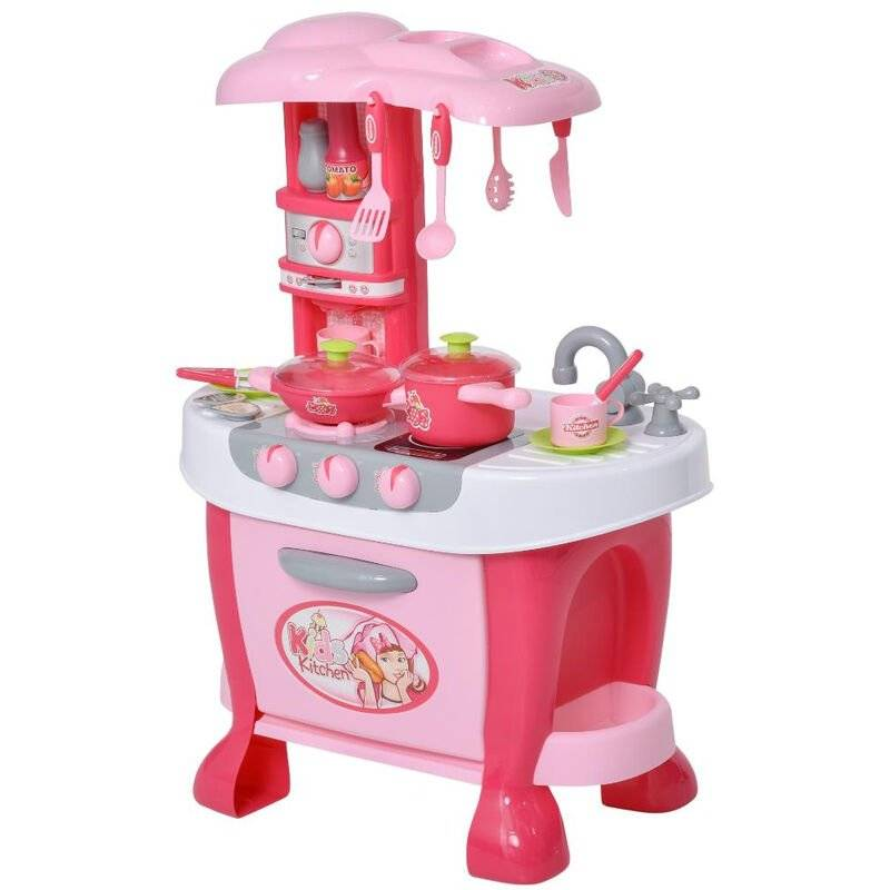 Cucina giocattolo per bambini 3-6 anni con accessori inclusi