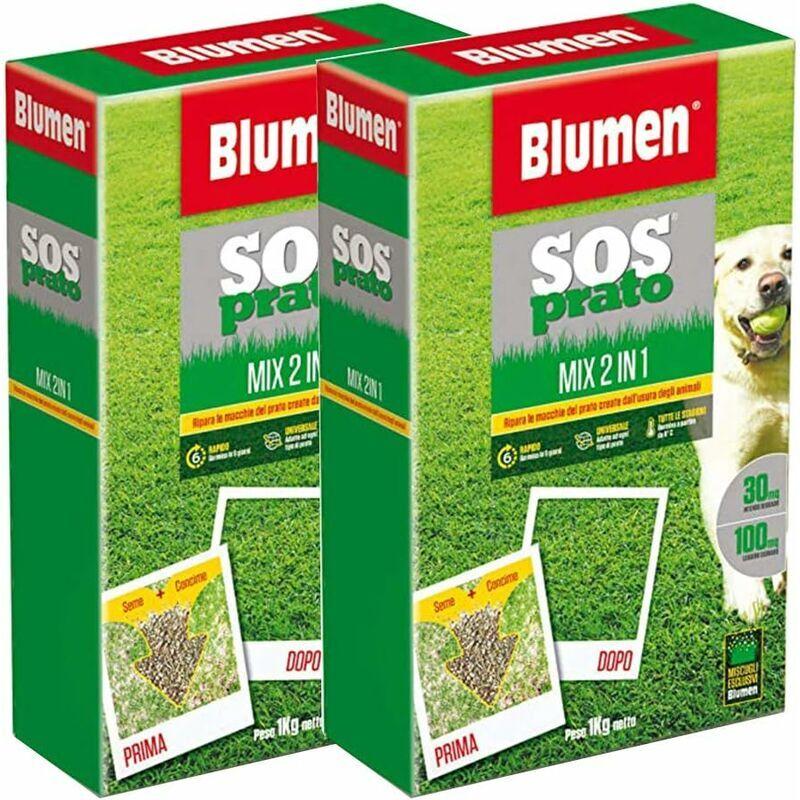 opengarden - mike 2x ripara prato rapido, tappeti erbosi+fertilizzante npk  sos prato 2 in 1, con semi a rapida crescita e concime npk  rapido,