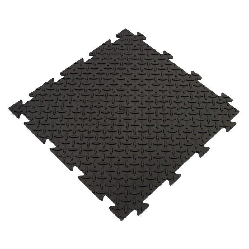 Homemania - Set 10 Piastrelle Ten - Mattonelle - Fai da Te - per Palestra, Officina, Giardino - Nero in PVC, 50 x 50 x 1 cm