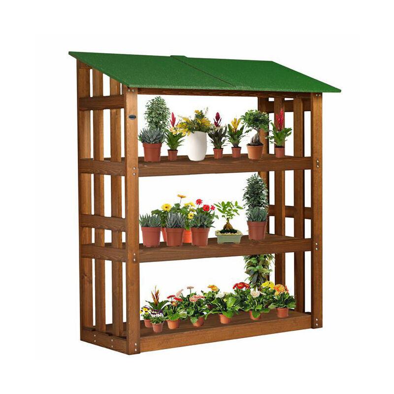 onlywood scaffale porta vasi in legno trattato 180 x 70 x 180 cm - onlywood