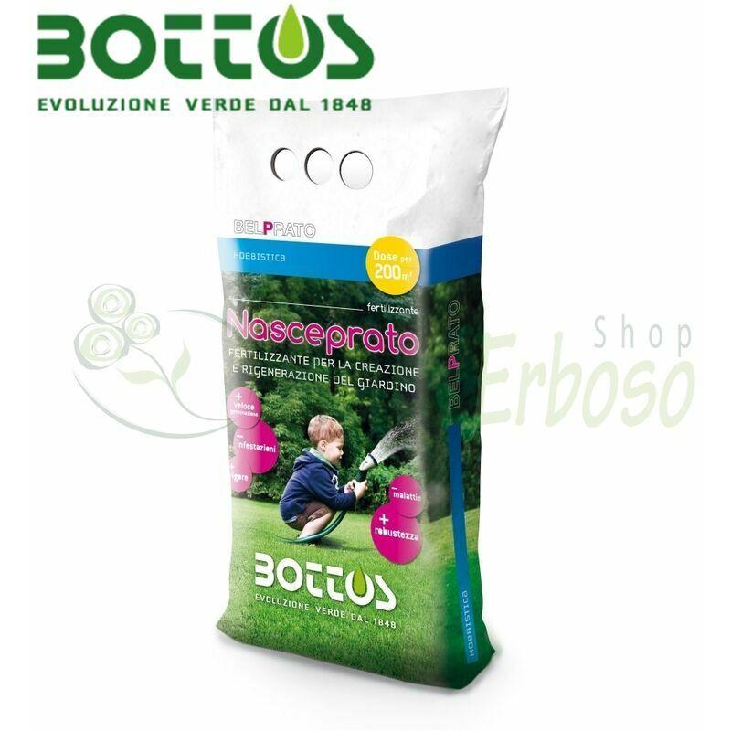 bottos - nasceprato 6-23-0 - fertilizzante per prato da 5 kg