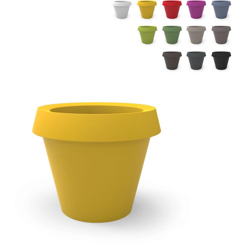 slide vaso per piante grande design gio tondo slide   colore: giallo