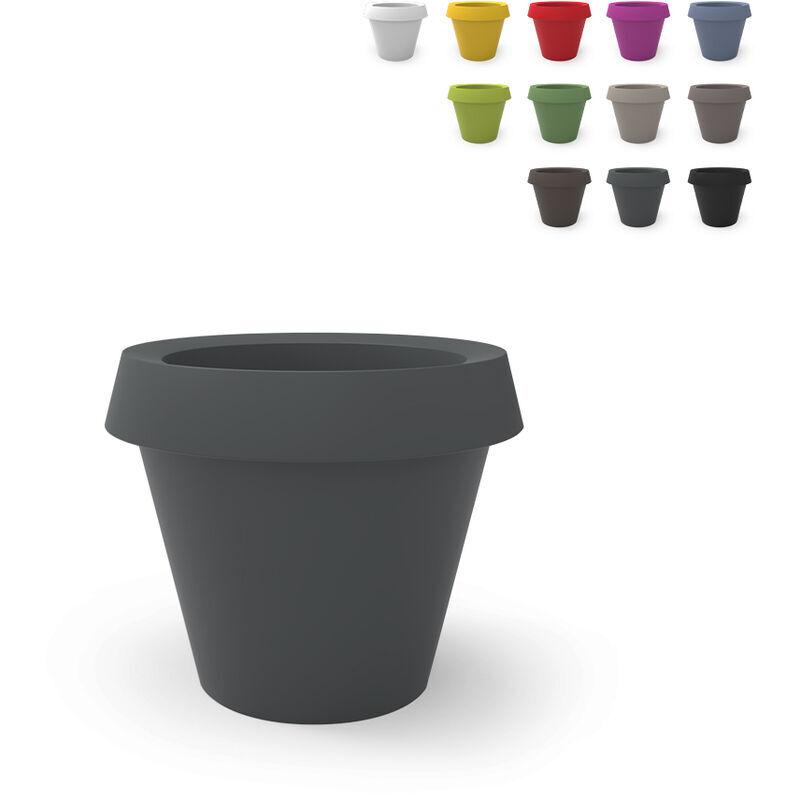 slide vaso per piante grande design gio tondo slide   colore: grigio scuro