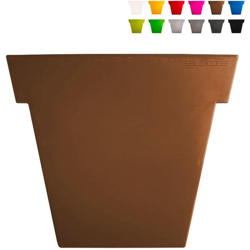 slide vaso per piante il vaso 140 cm design moderno   colore: marrone - slide