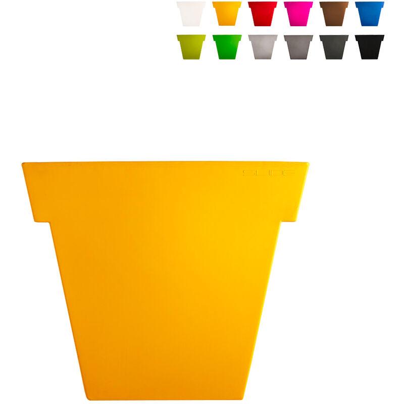 slide vaso per piante il vaso 55 cm design moderno   colore: giallo - slide