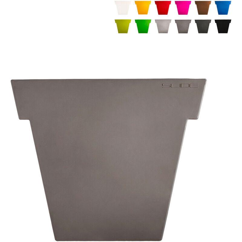 slide vaso per piante il vaso 75 cm design moderno   colore: grigio scuro - slide